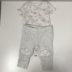 Carter's Top + Bottom Bundle with Clouds